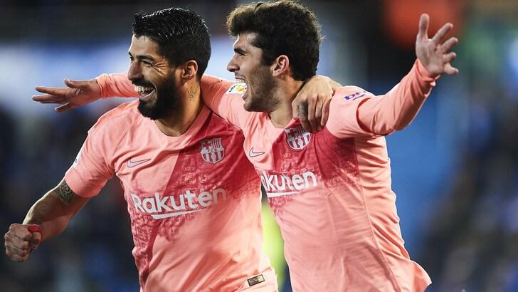 Liga, Barcellona a -3 dal titolo. Successo per Huesca e Valladolid