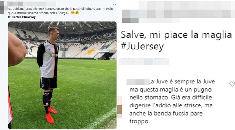 Juventus, la nuova maglia divide i tifosi