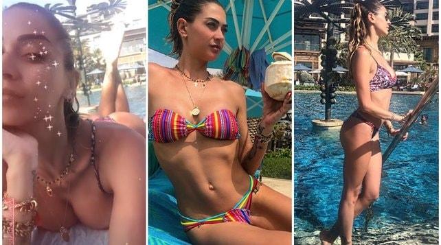 Melissa Satta supersexy in vacanza con le amiche a Dubai