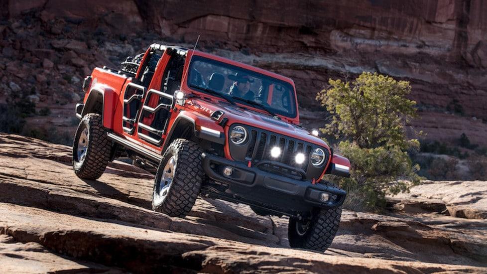 Jeep Gladiator, la prova off-road