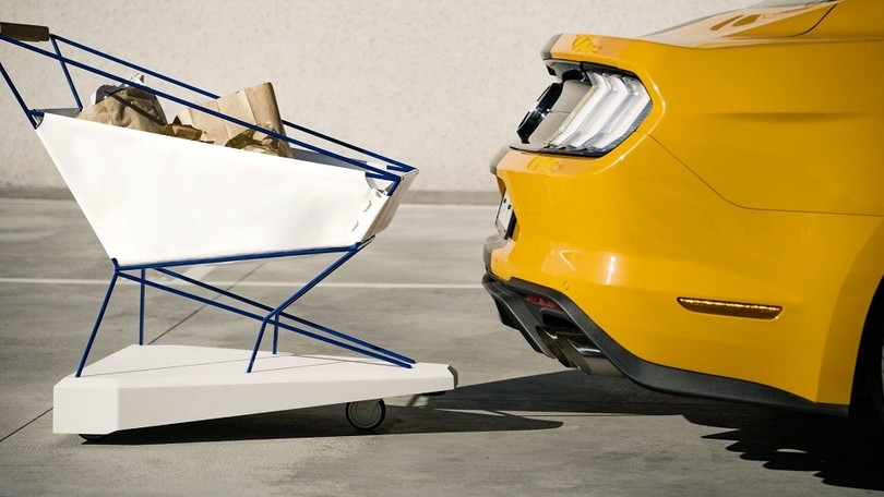 Self-Braking Trolley Ford: freni per il carrello della spesa