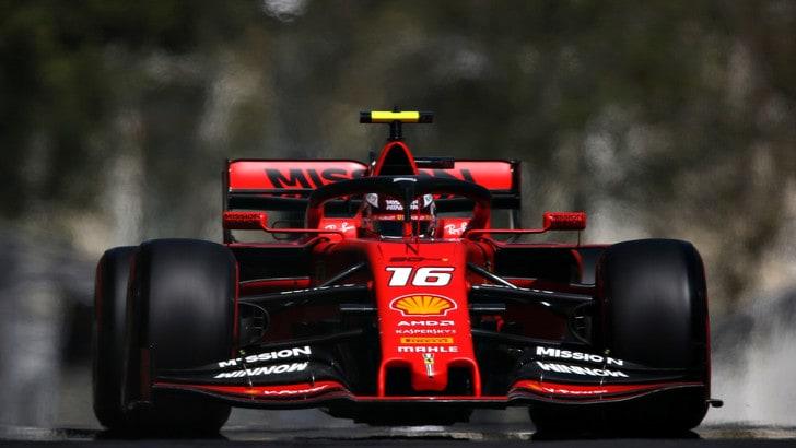 F1 Gp Azerbaijan, super Ferrari: Leclerc e Vettel comandano le libere