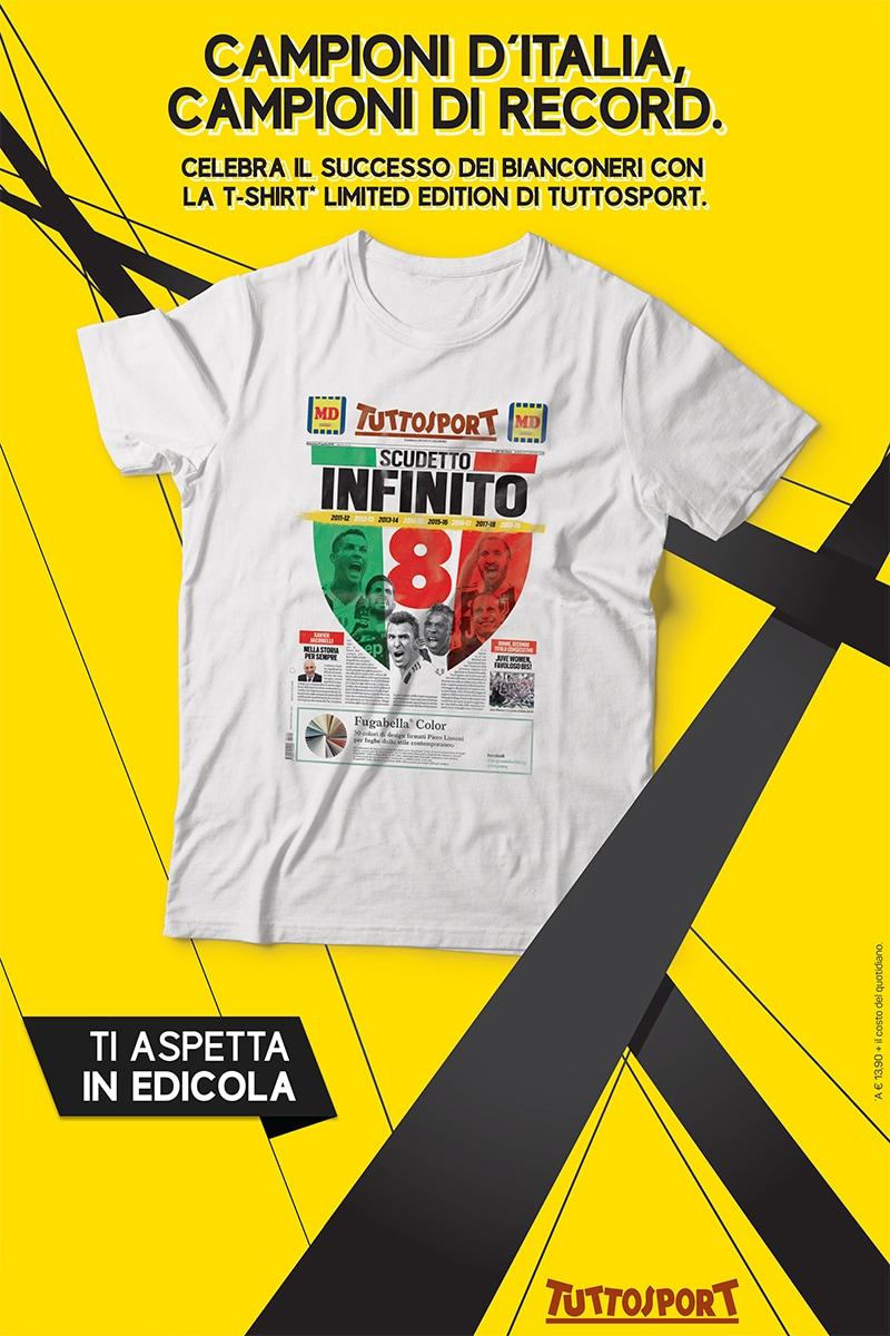T-Shirt Campioni d'Italia
