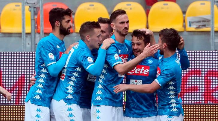 Frosinone-Napoli 0-2: Mertens aggancia Maradona, Younes show