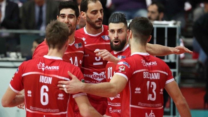 Volley: A2 Maschile, Finale Play Off, Piacenza travolgente in Gara 1