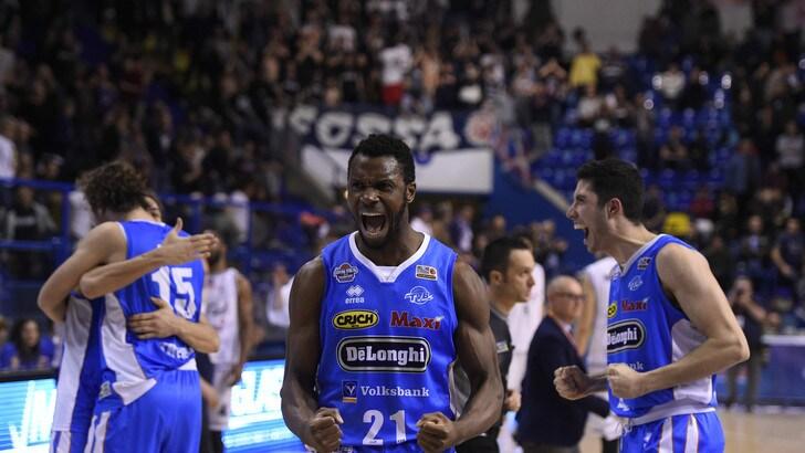 Basket, Playoff Serie A2: Treviso porta a casa Gara 1 contro Trapani