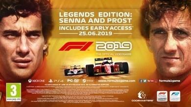 'F1 2019: Legends Edition' con lo storico duello Senna-Prost