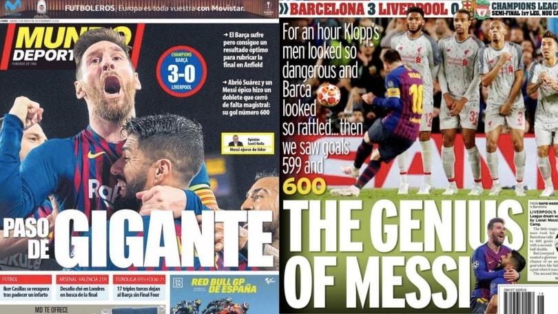 Messi stende il Liverpool: le reazioni della stampa estera