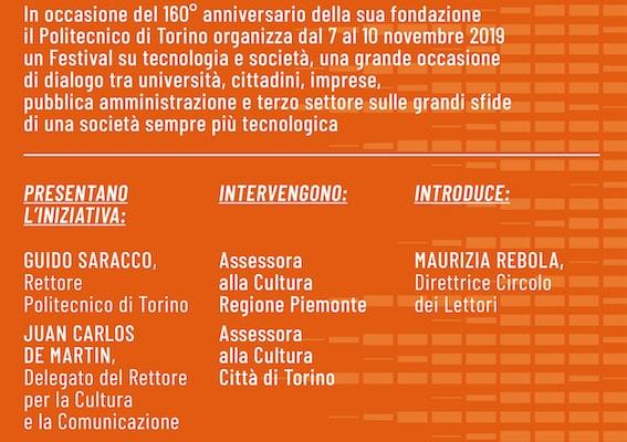 Festival della Tecnologia, capire il futuro al Politecnico di Torino