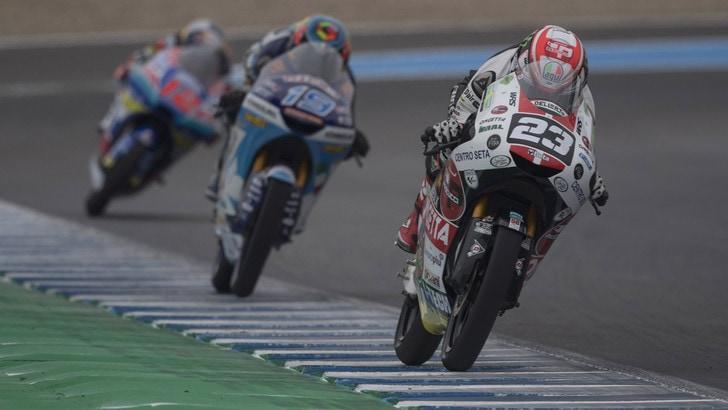 Moto3, Jerez: vittoria per Antonelli, Vietti terzo
