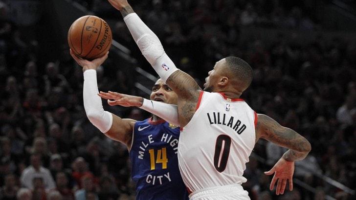 NBA Playoff: ai Nuggets non basta Jokic, Portland stende Denver 119-108