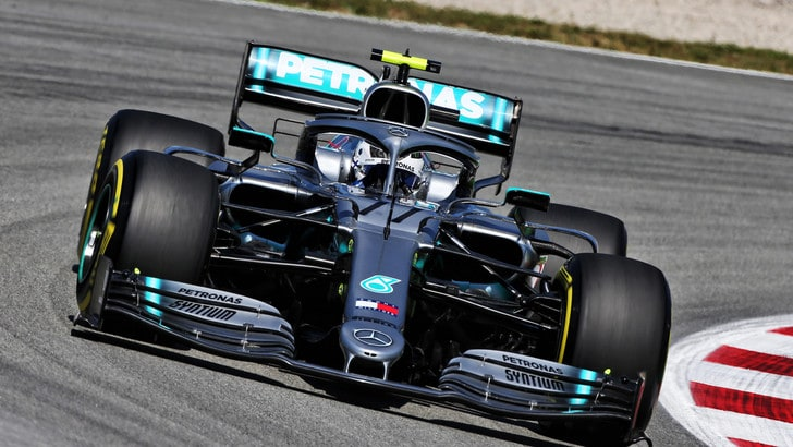 F1 Gp Spagna, libere a Bottas. Poi Vettel e Leclerc