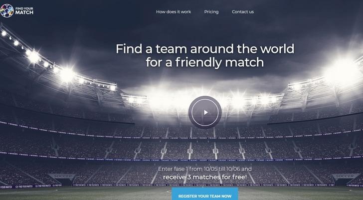 """""""Find your match"""", online il sito che organizza le amichevoli"""