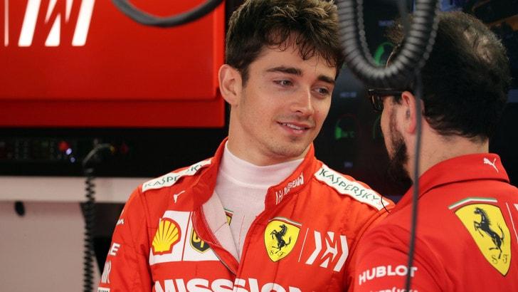 F1 Ferrari, Leclerc: «La gara sarà difficile, siamo ancora lontani»