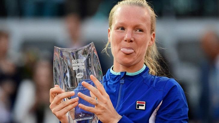 Tennis, Madrid: Bertens trionfa battendo la Halep in due set