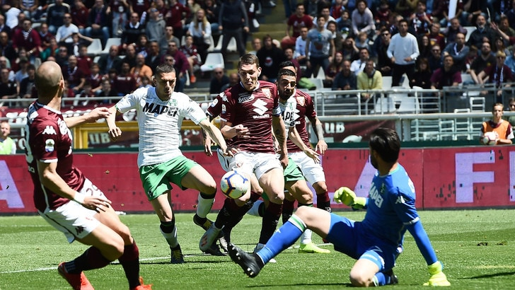 Serie A Torino-Sassuolo 3-2, il tabellino