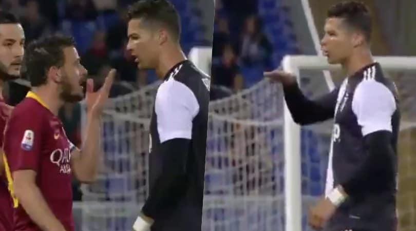 Nervi tesi Florenzi-Ronaldo: CR7 lo prende in giro per la statura