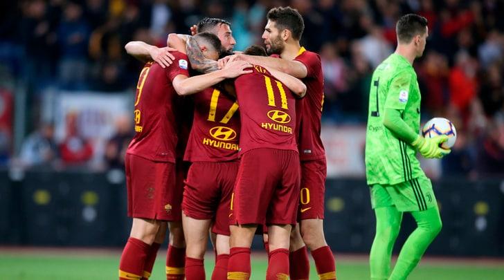Serie A, Roma-Juve 2-0: decidono i gol di Florenzi e Dzeko