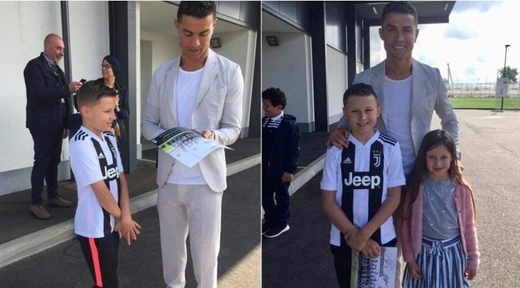 Il cuore grande di Cristiano Ronaldo: realizza il sogno del piccolo Joseph