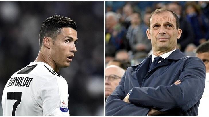 Juventus, Allegri: «Ho imparato tanto da Cristiano Ronaldo»