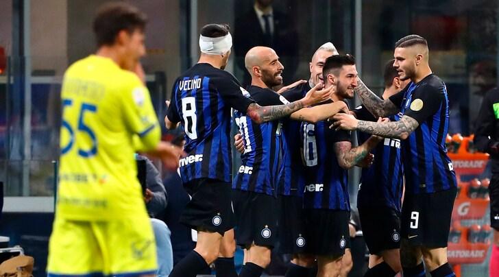 Serie A, Inter-Chievo 2-0: i gol di Politano e Perisic avvicinano i nerazzurri alla Champions