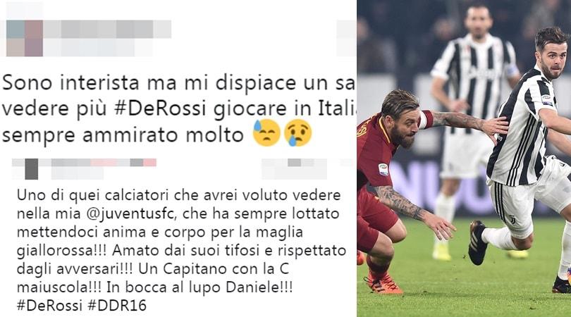 De Rossi lascia la Roma. L'omaggio dei tifosi delle altre squadre