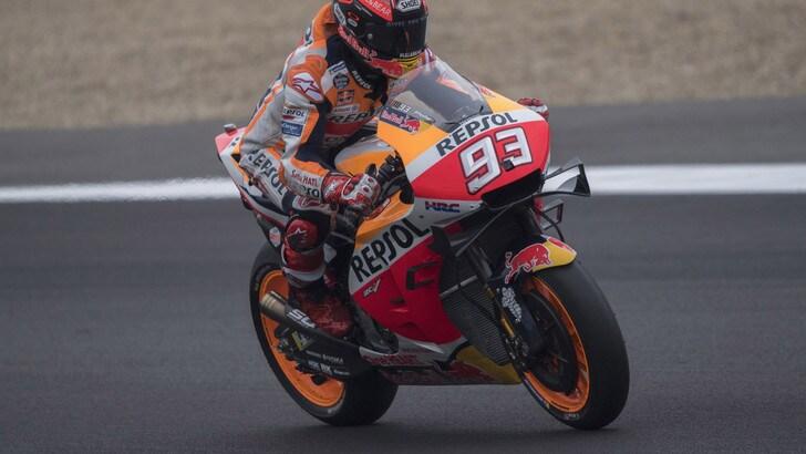 MotoGp Honda, Marquez: «A Le Mans bisogna fare i conti col clima»