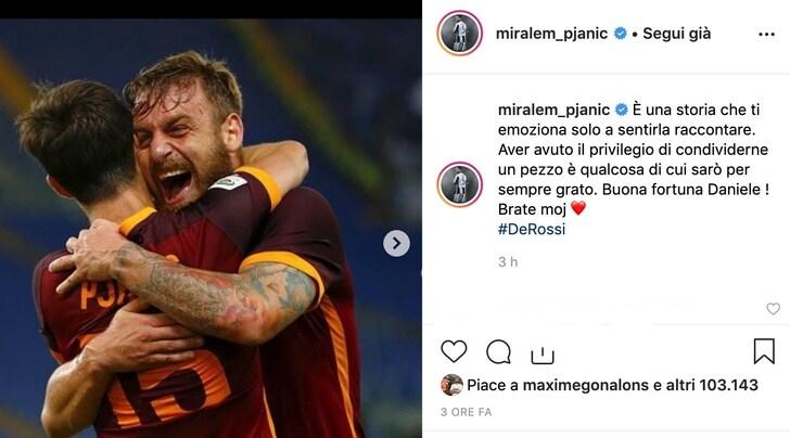 Juve, Pjanic omaggia De Rossi: «Storia che emoziona solo a sentirla»