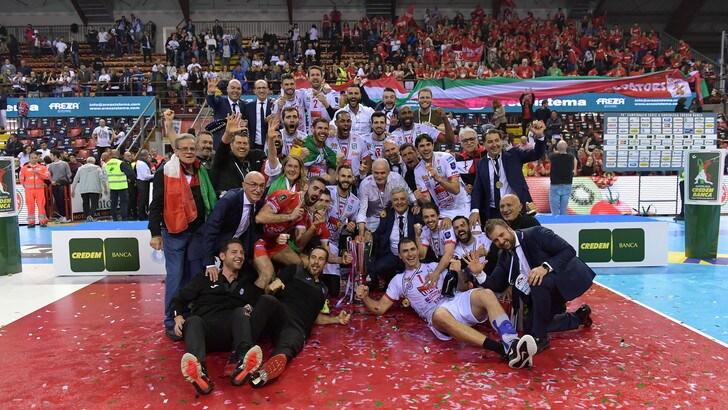 Volley: Superlega, Civitanova è grande, batte Perugia in rimonta ed è Campione d'Italia