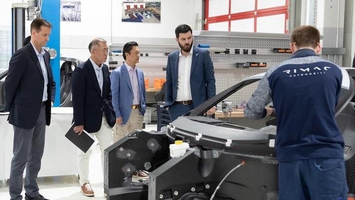 Hyundai, investimento in Rimac per le auto elettriche