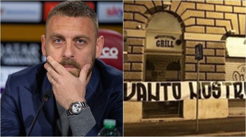 Roma, addio De Rossi: rabbia dei tifosi e striscioni contro la società