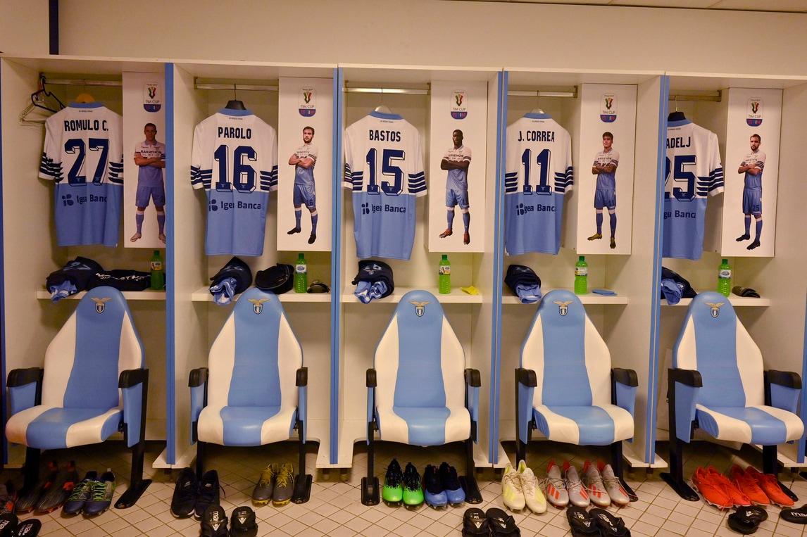Coppa Italia, sale l'attesa: tutto pronto nello spogliatoio della Lazio