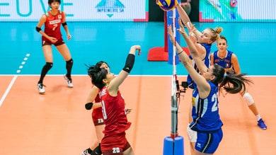 L'Italia femminile a Montreux si arrende in semifinale al Giappone