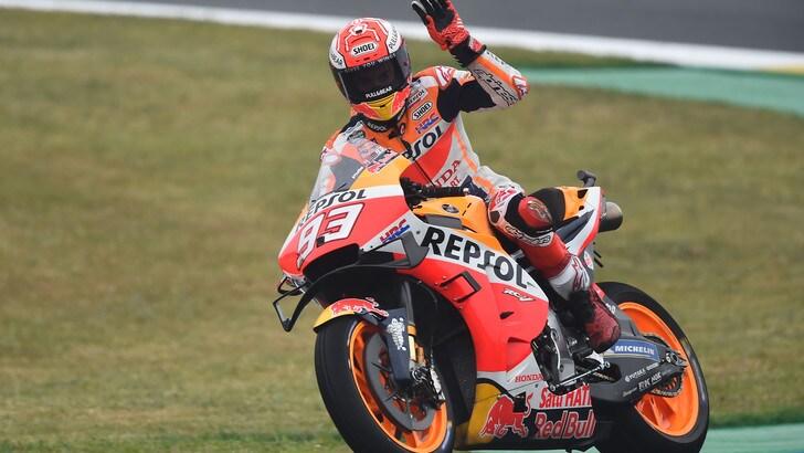 Marquez fa sua la pole a Le Mans, Rossi è quinto