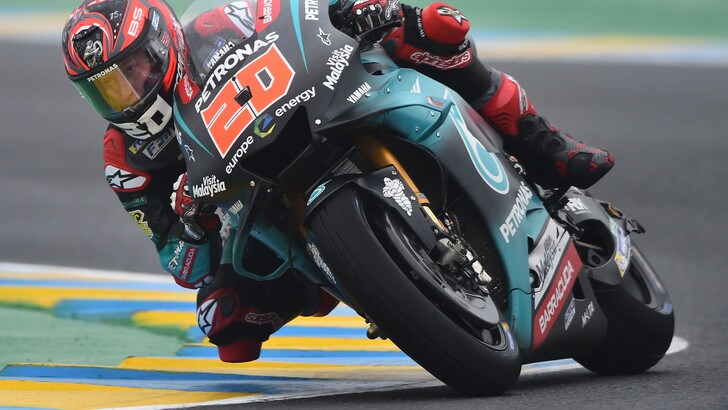 Le Mans: a Quartararo il warm up, Rossi chiude la top ten