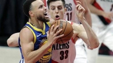 Nba, Golden State domina su Portland nella finale della Western Conference