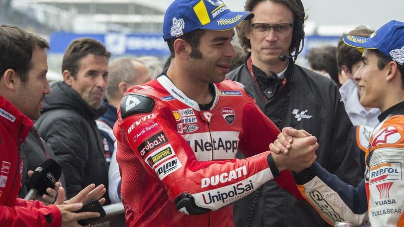 Le Mans: Marquez trionfa, poi le due Ducati. Quinto Rossi