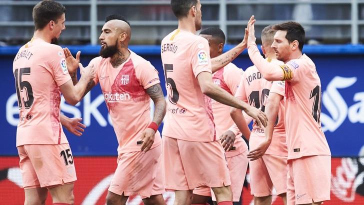 Messi non basta al Barcellona: con l'Eibar finisce 2-2