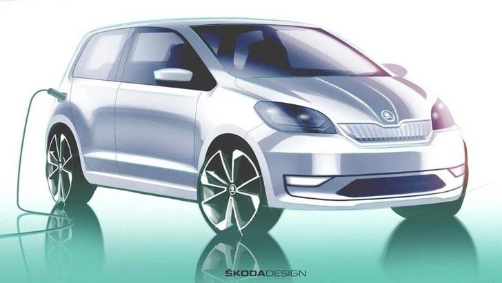 Skoda Citigo-e iV: il primo bozzetto dell'auto elettrica