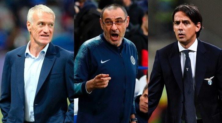 Nuovo allenatore Juve: tra Deschamps e Inzaghi c'è l'impennata di Sarri