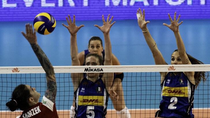 L'Italia nell'esordio in VNL supera la Polonia