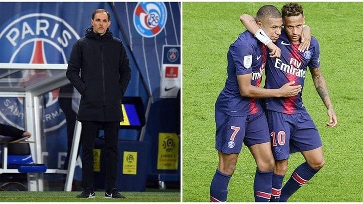 Psg, Tuchel: «Se Neymar e Mbappé andranno via, troveremo altre soluzioni»