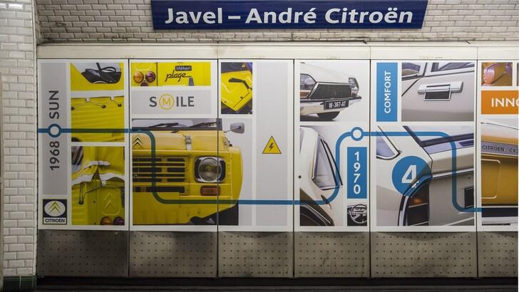 Parigi, la stazione metro Javel-Citroen festeggia le auto