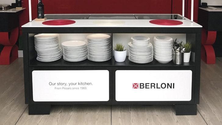 Nei paddock della MotoGp un kitchen point Berloni insieme a Severino & Son Hospitality