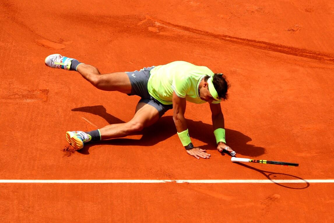Roland Garros, la caduta di Rafa Nadal