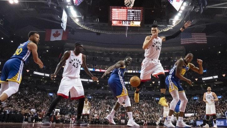 NBA Finals, Golden State ko: primo atto ai Raptors