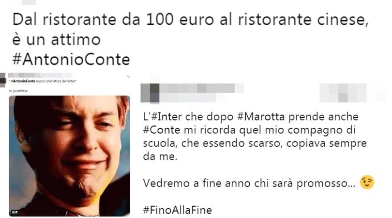 """Conte, tifosi della Juve scatenati: """"Il vero juventino non va all'Inter"""""""
