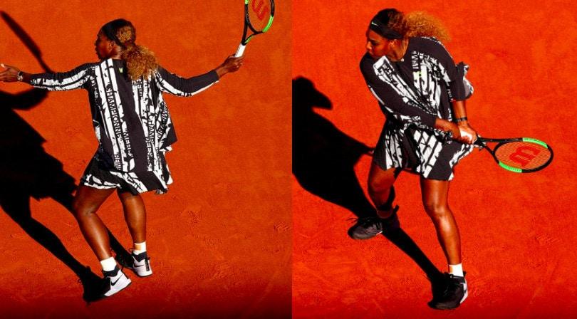 Serena Williams, che completo al Roland Garros