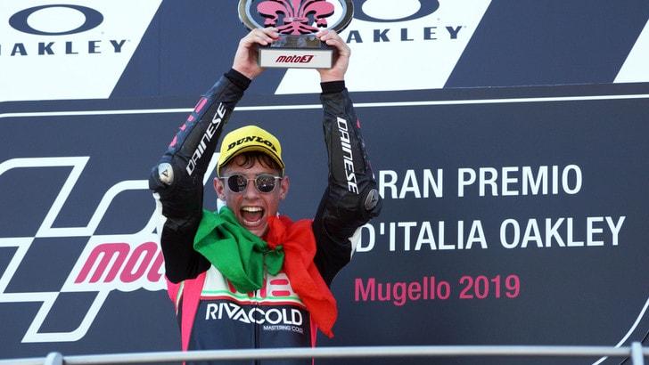Moto3, Arbolino: «Prima vittoria sensazione incredibile»