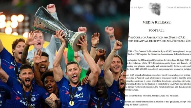 Il Chelsea ricorre al CAS per la sentenza sul blocco del mercato